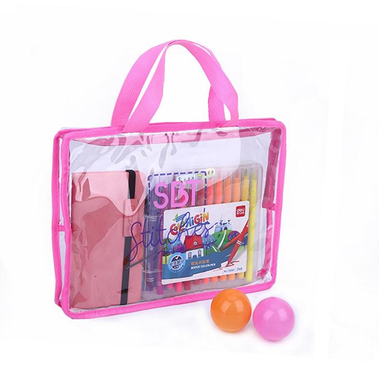 Custom waterproof travel more convenient pvc clear tote bag