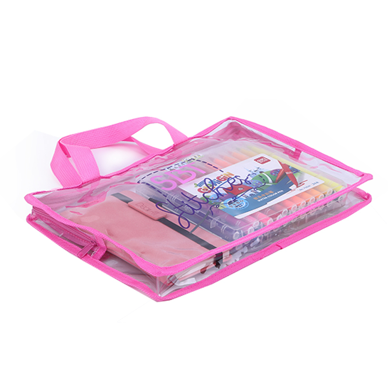 Custom waterproof travel more convenient pvc clear tote bag