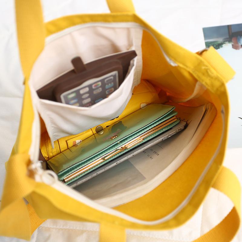 Yonghuajie tassel canvas tote bags canada mat for makeup