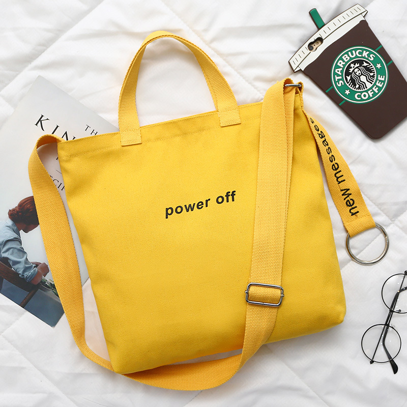 High Quality Custom Design Large Women Canvas Tote Handbags Casual Shoulder Work Crossbody Bag with Zipper