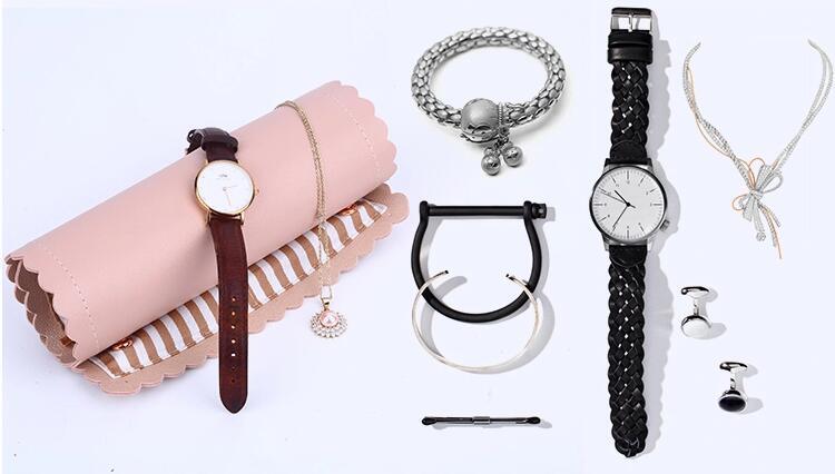 PU roll pouch jewelry bag