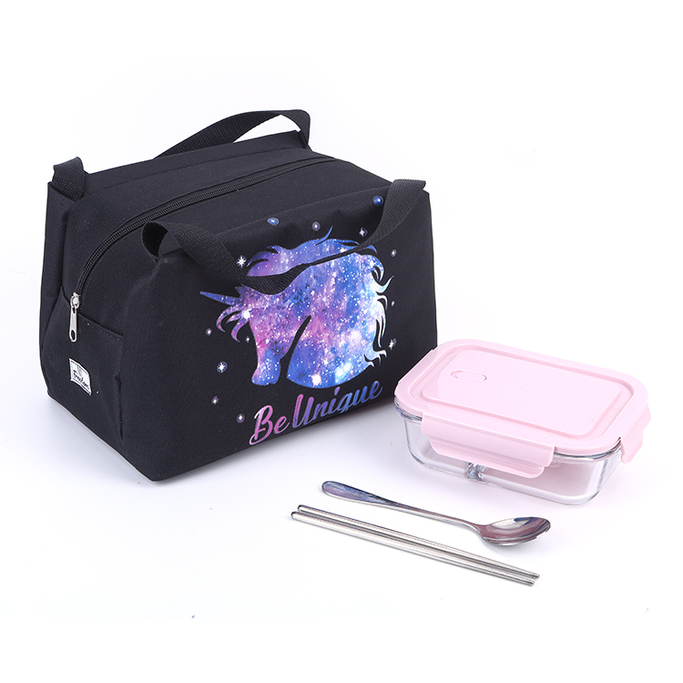 Customized Digital Printing Cooler Box Thermal Lunch Oxford Polyester Bag