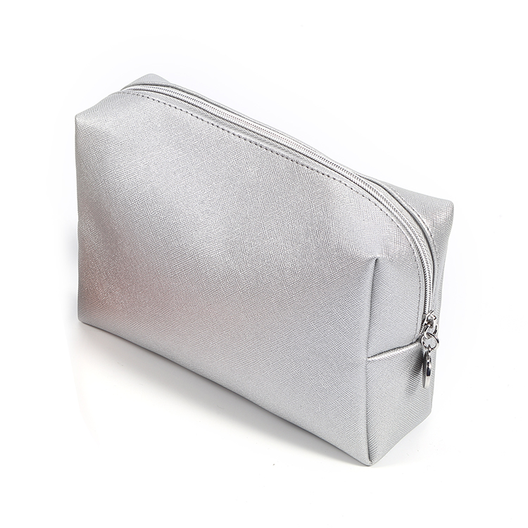 High Quality Nice Round Metal Zipper Pull Travel Pu Leather Clutch Custom Makeup Bags