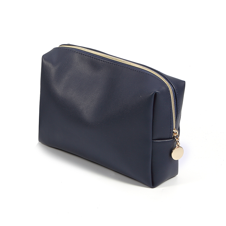 Custom Black Pu Leather Travel Make Up Cosmetic Bags Wholesale