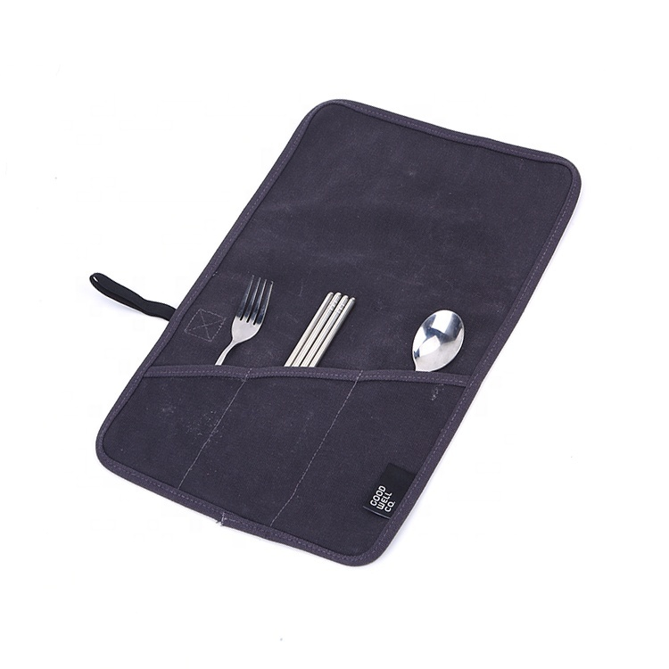 Custom waxed different types tool 3 spacious pockets canvas bag
