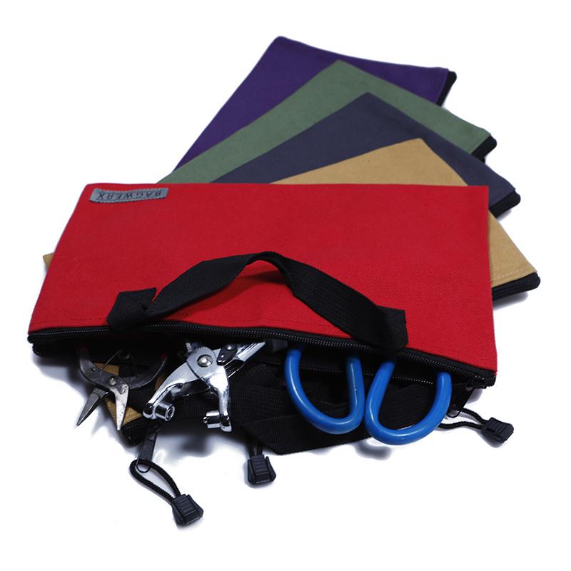 Custom organizer long canvas tote power tool bag with zipper