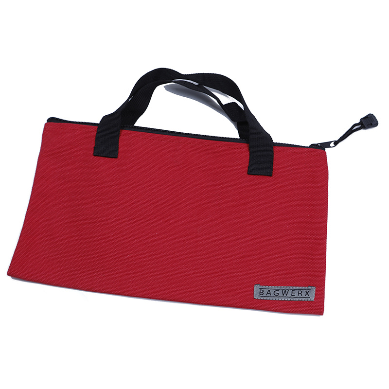 Custom organizer long canvas tote power tool bag with zipper