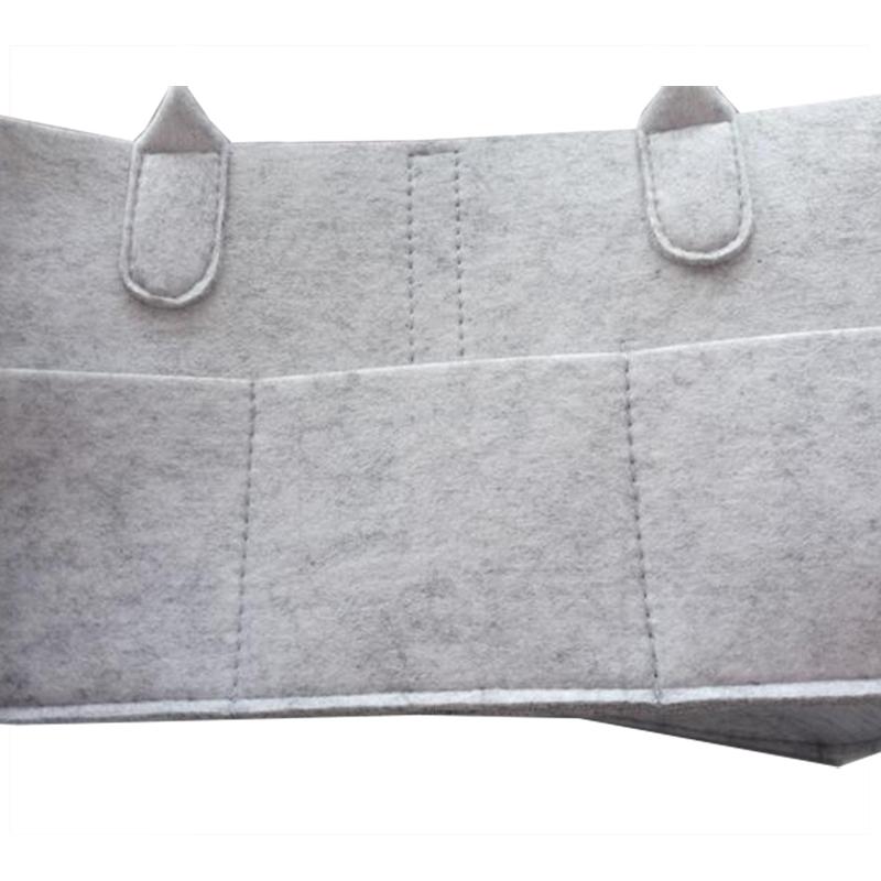 Customised baby diaper packaging mom felt bag with handles