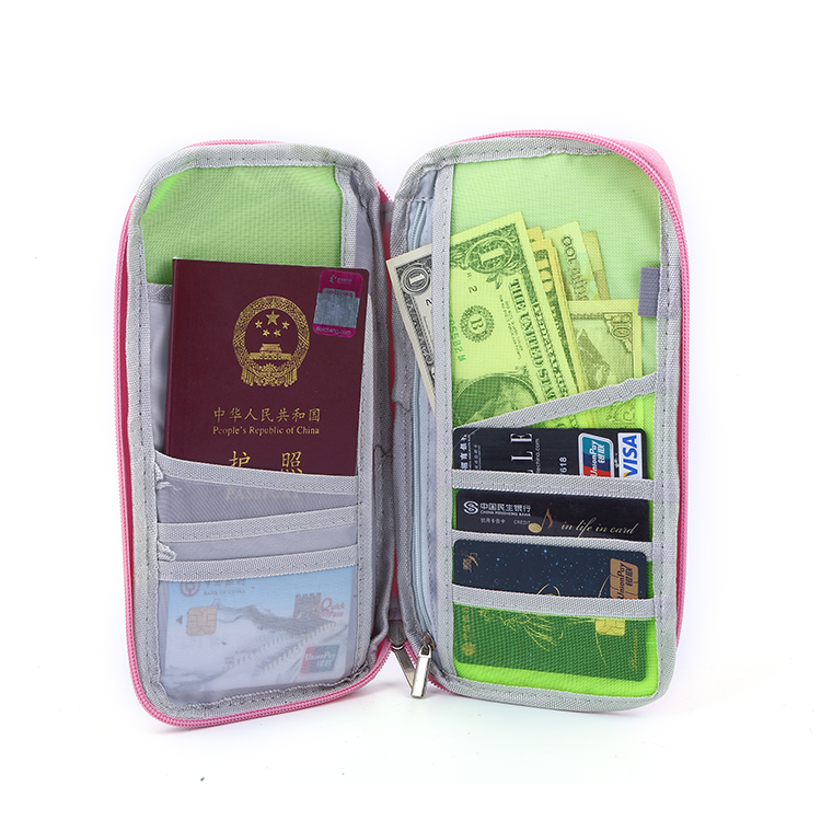 Cash card passport travel wallet family sublimation personalized passport holder