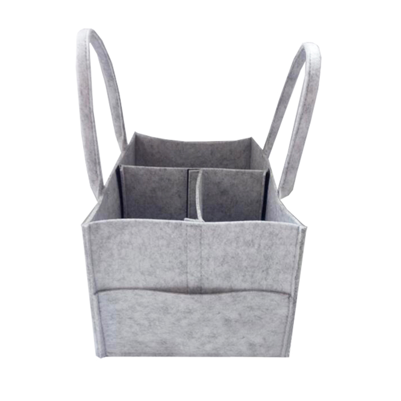 Fashion large capacity travel felt tote baby diaper packing bag