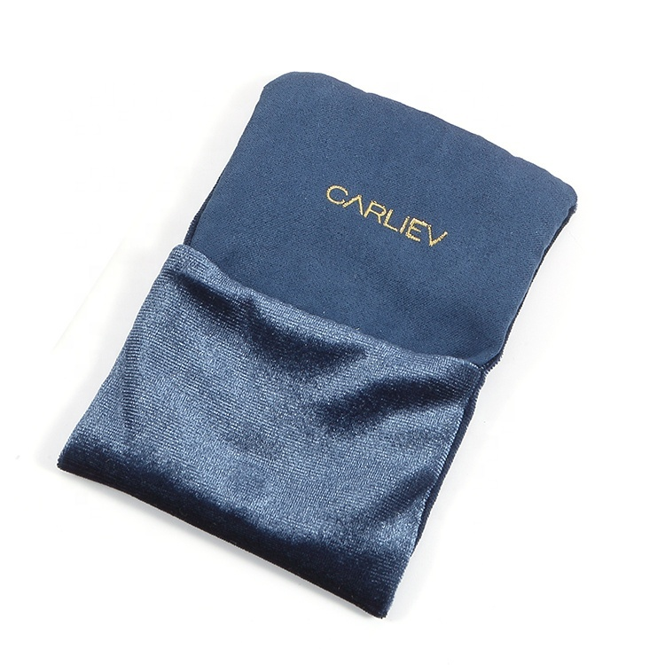 Custom small velvet flap pouch bag for jewelry
