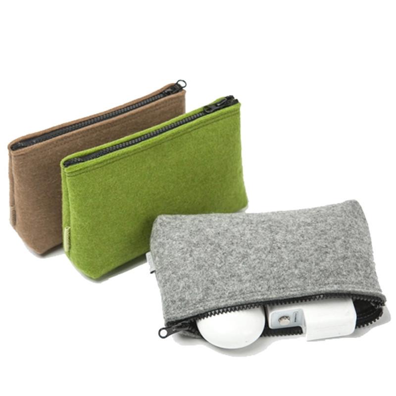 Custom Small Blank Shell Earphone Power Bank Electronic Felt Packaging Bag