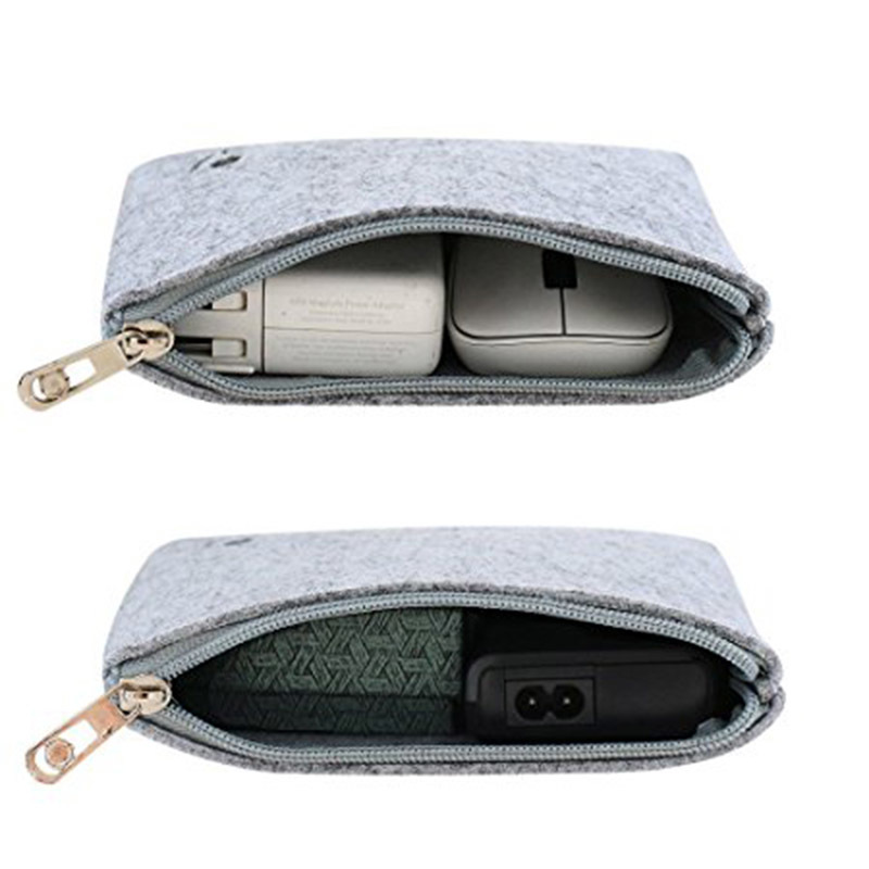 Custom Small Blank Shell Earphone Power Bank Electronic Felt Packaging Bag