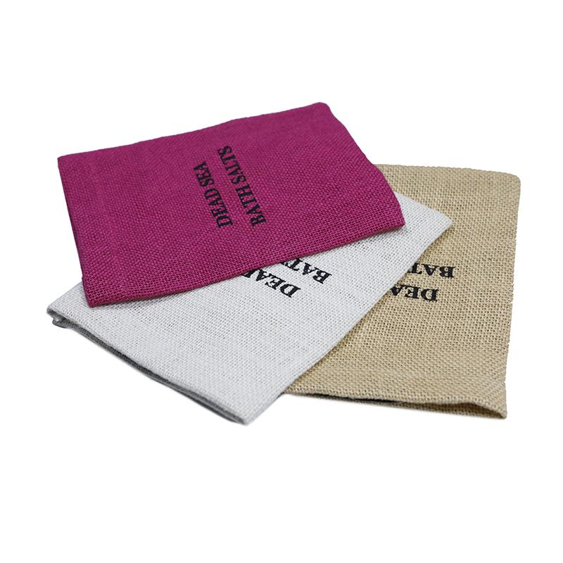 Custom Coffee Bean Used Packing Eco-Friend Jute Bag With Magic Tape