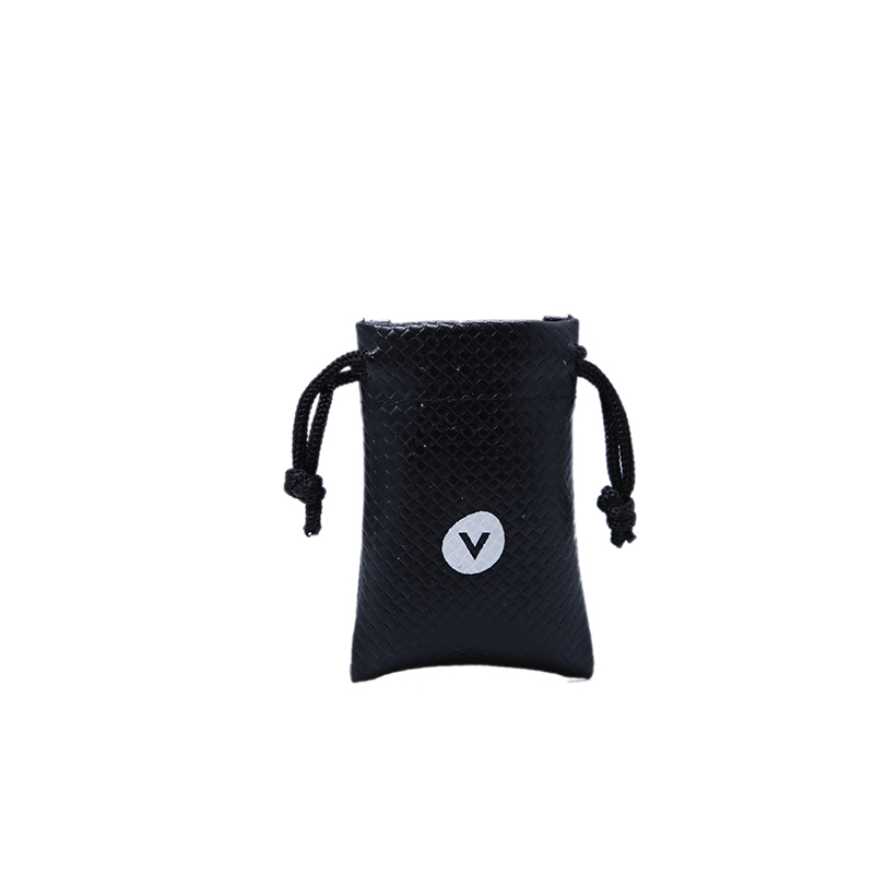 Heigh quality black pu leather pouch jewelry drawstring bag