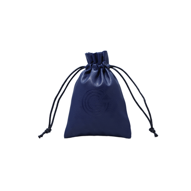 Hot sale jewelry drawstring pouch small pu leather bag