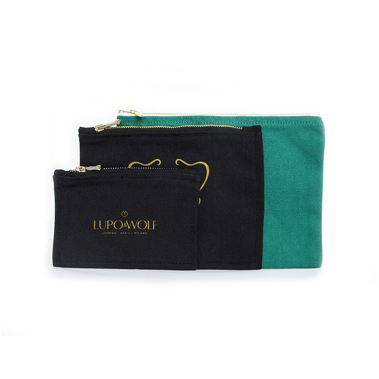 Wholesale Travel Canvas Cosmetic Bag Bulk Customized Zipper pouch