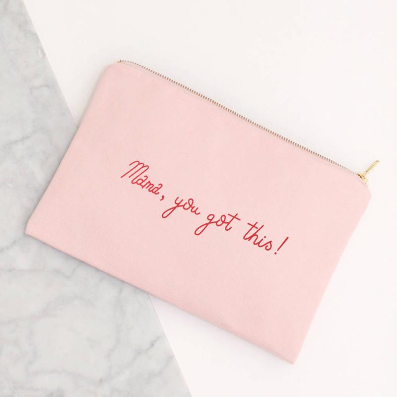 Custom girl favorite pink canvas brush cosmetic bag zipper bag