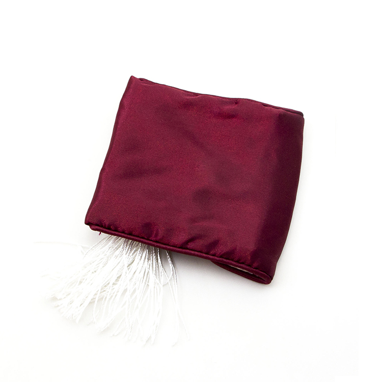 Custom envelope gift jewelry pouch red satin bag with tassel