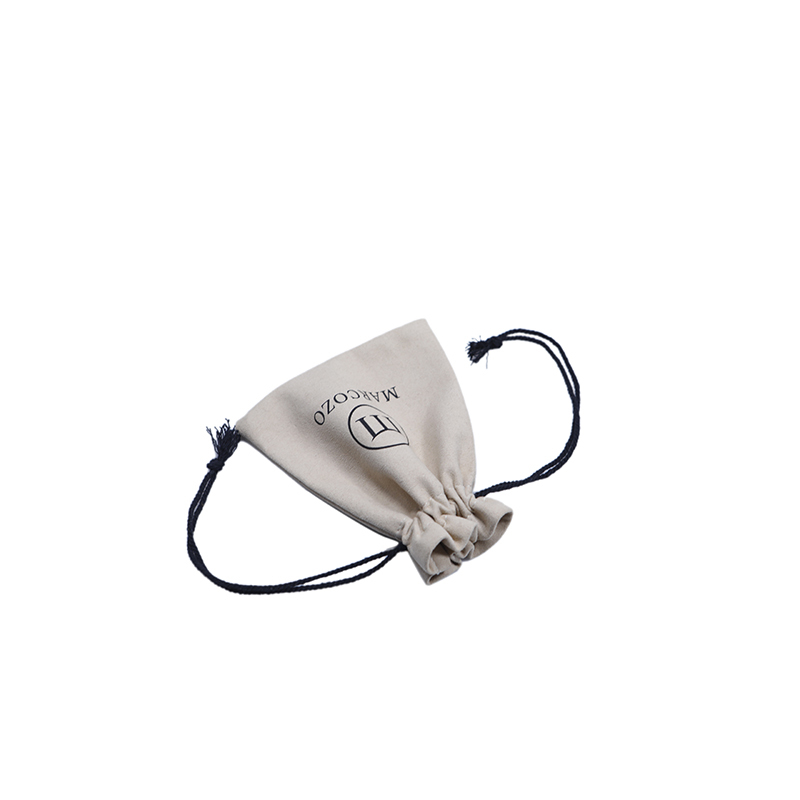 Custom small size suede jewelry pouch drawstring bag with logo