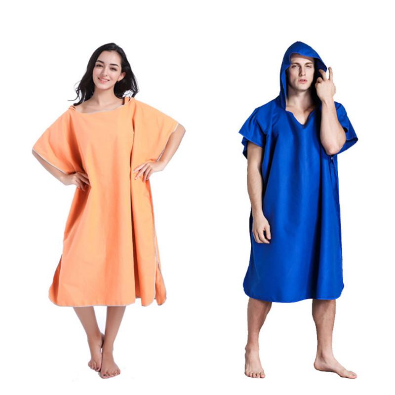 Cuastom quickly dry the caped cape swimming beach adult bathrobe change unisex cloak