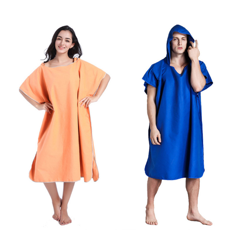 Cuastom quickly dry the caped cape swimming beach adult bathrobe change unisex cloak