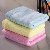 Custom logo printed quick drying bamboo face towels