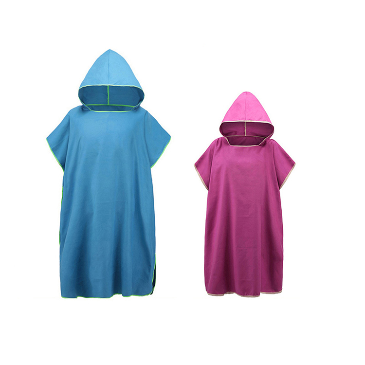 Factory Price Personalised Kids Wearable Hooded Bathrobe