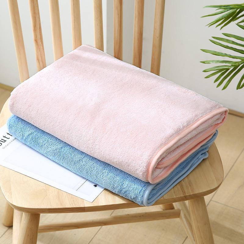 Custom Logo Skin Friendly Polyester Luxury Plain Bath Towel