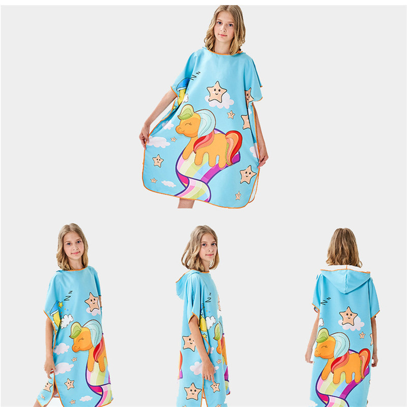 Quick Drying Swimming Towel Beach Seaside Bathrobe