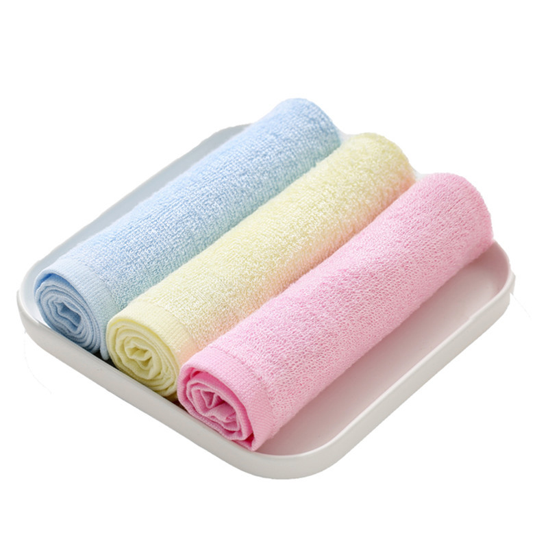 Wholesale reusable soft durable bamboo face wash towels