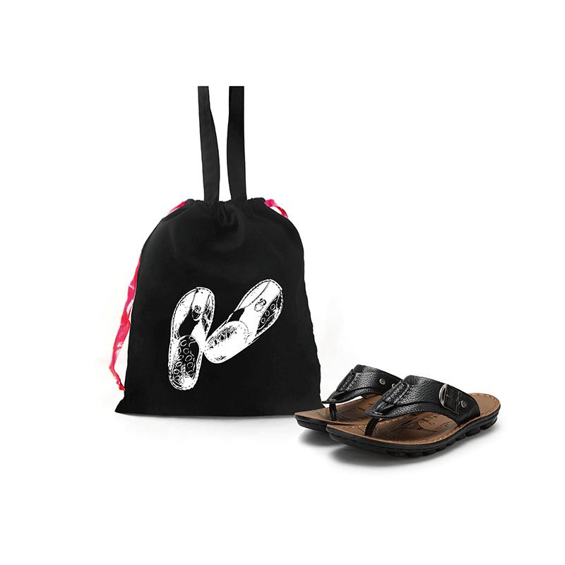 Custom Design Foldable Cotton Drawstring Recycled Travel Gym Shoe Dust Tote Bag Organizer