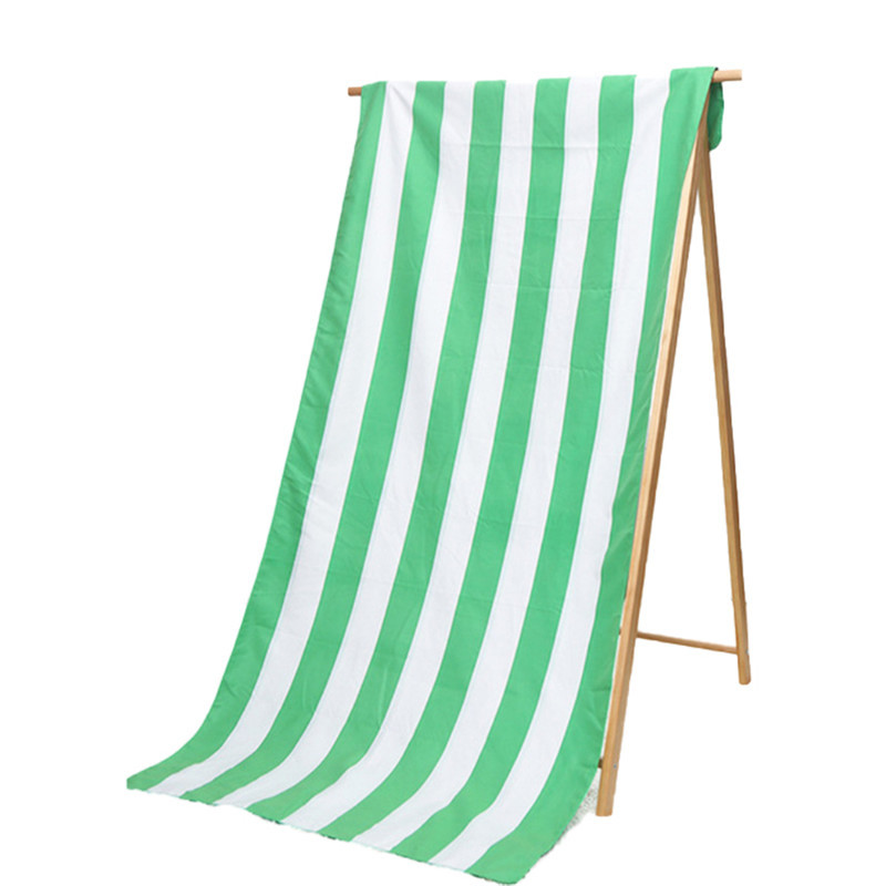 Wholesale Recycled Microfibre Striped Beach Towels For Adult