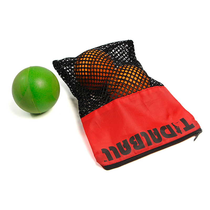 Custom printed logo mesh clothing zipper bag organizer ball bag