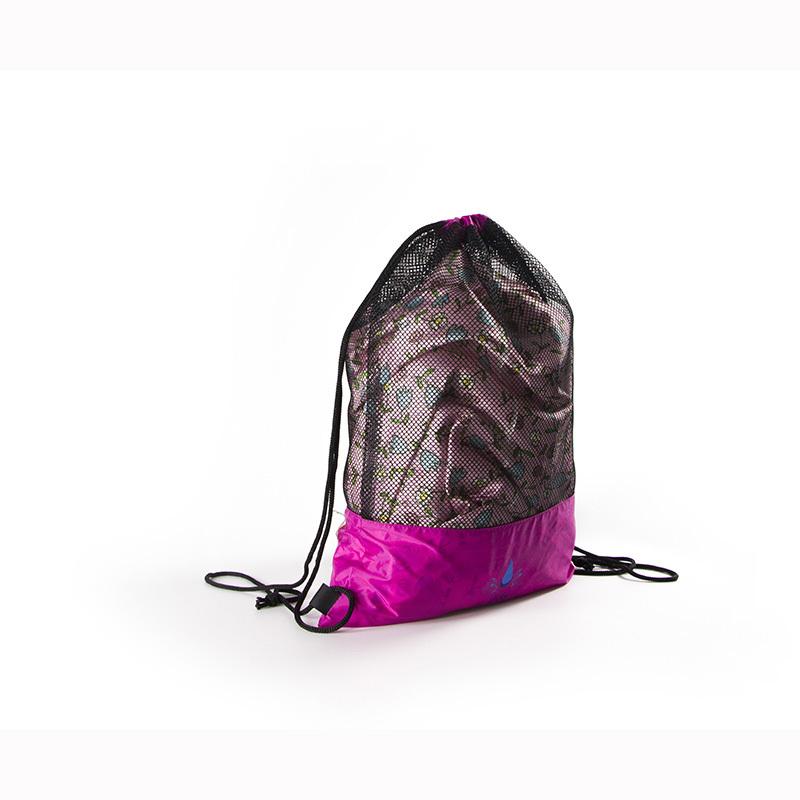 Custom nylon mes backpack toys towel sport storage drawstring bag