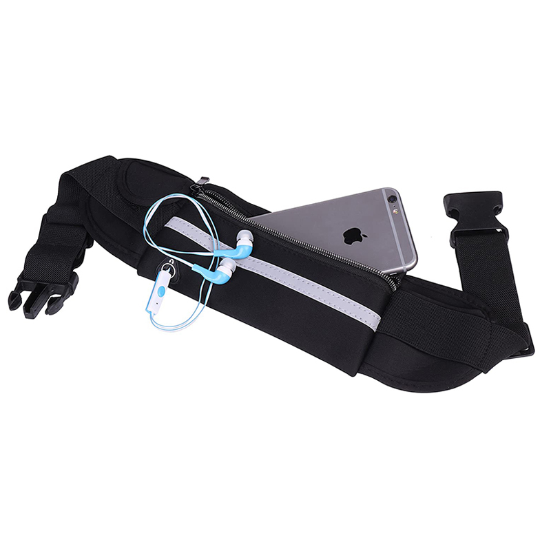 Water Resistant Reflective Material Sport  Waist Bag