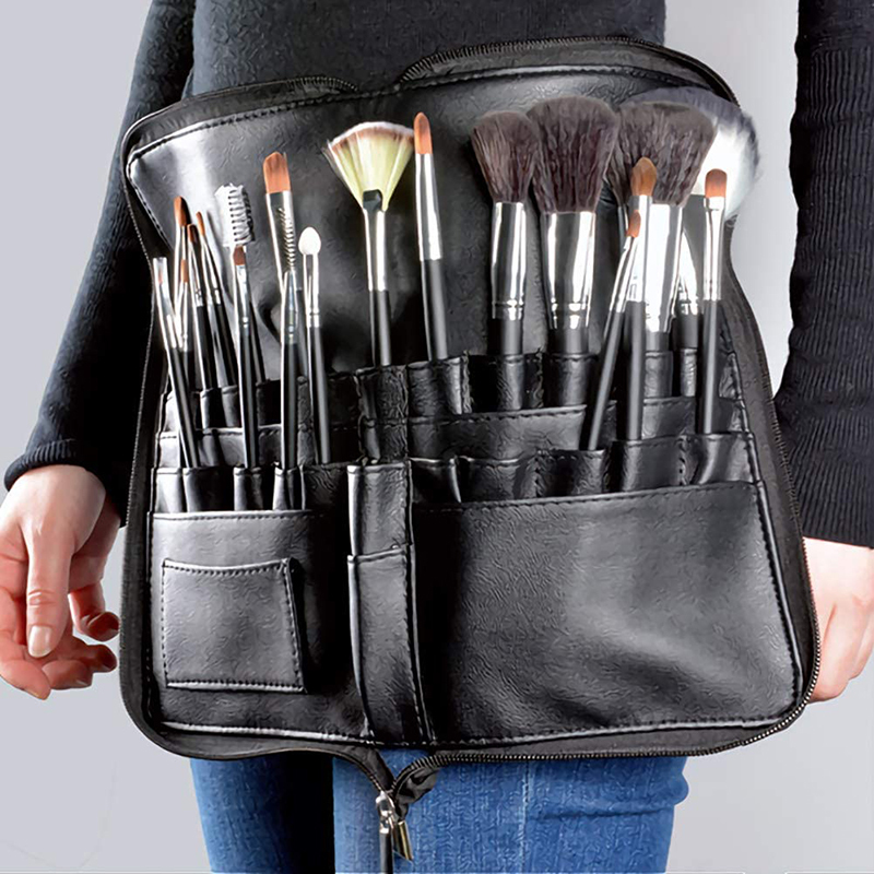 Custom Pockets Compact Makeup Brush Rolling Pouch