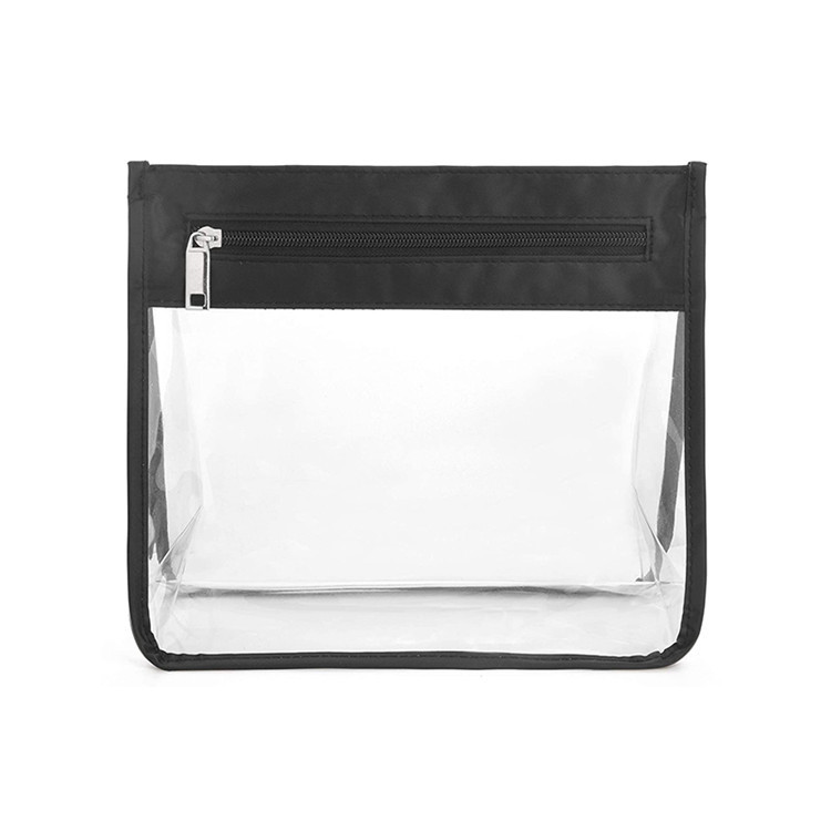 Custom zipper clear pvc makeup brush bag wash travel bag
