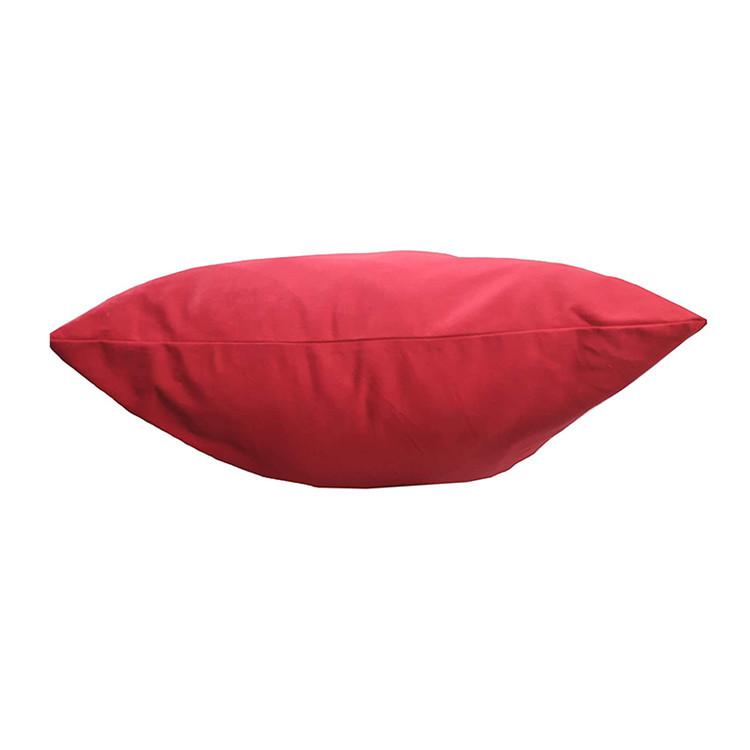 Custom large red plaid cotton canvas drawstring bag