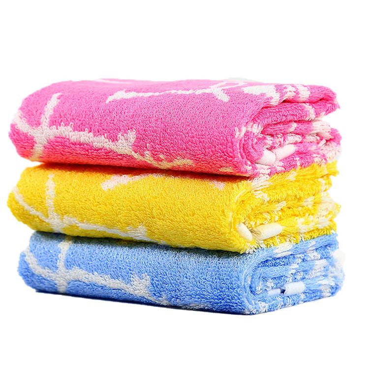 Bamboo fibre jacquard children baby towel healthy bath wash towels