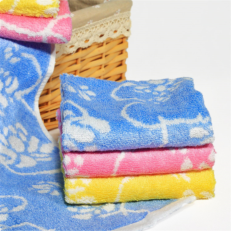 Bamboo fibre jacquard children baby towel healthy bath wash towels