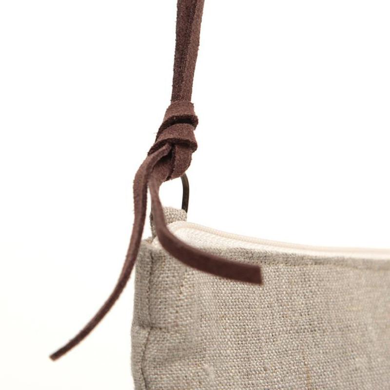 Custom combined PU leather webbing design lady linen