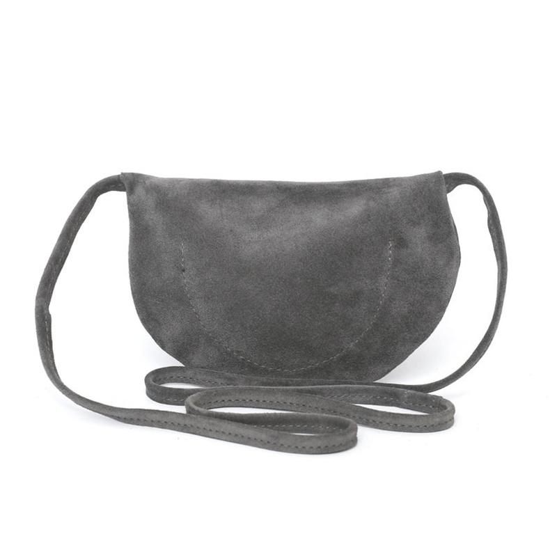 Custom gray suede travel shopping bag shoulder zipper crossbody bag