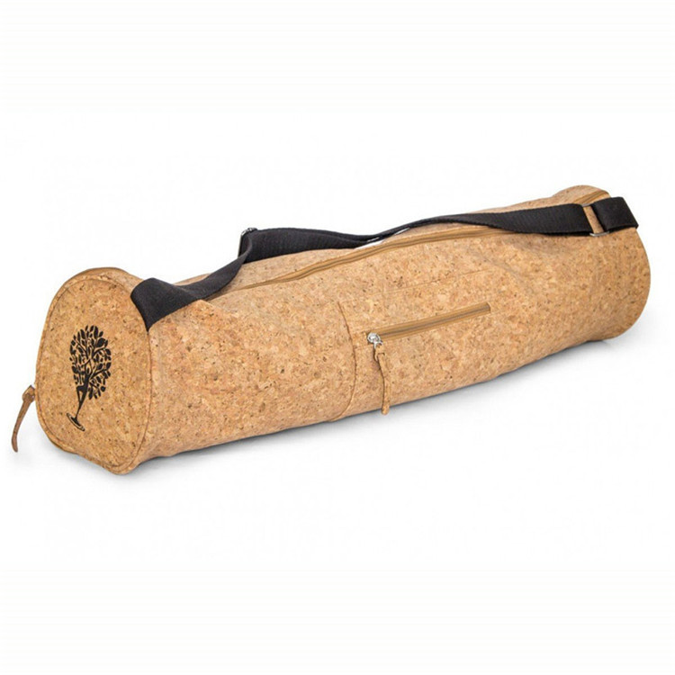Eco-friendly Custom Order Cork Yoga Mat Bag With Zipper Closure