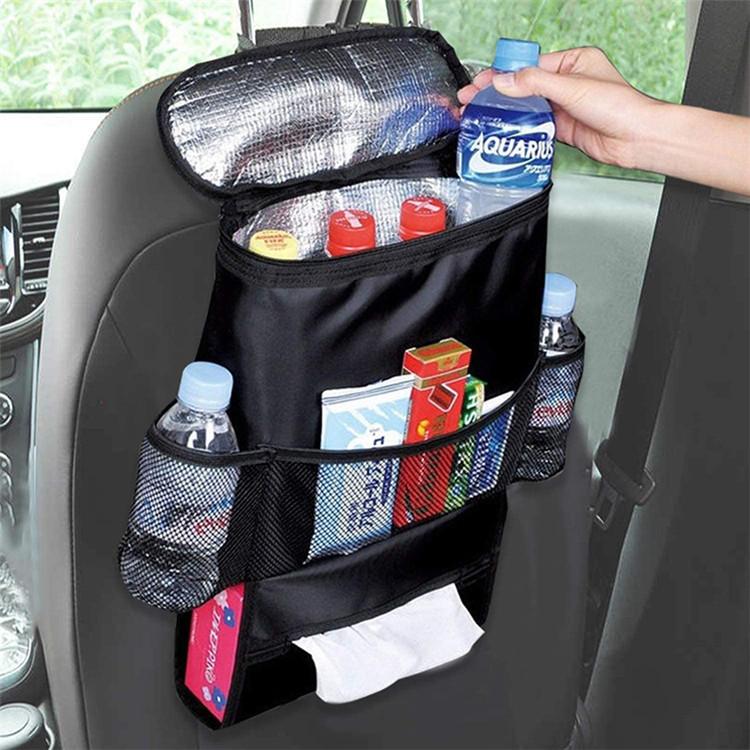 Car Seat Back Organizer Cooler Set bag