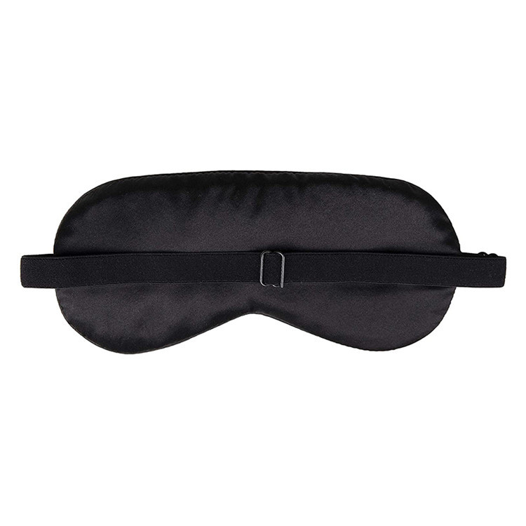 Black mulberry silk office break sleep eyeshades