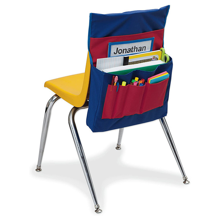 Custom Polyester Chair Back Pocket School