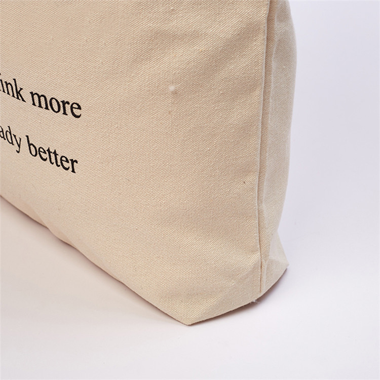 Large capacity travel canvas packing book handle bag market shopping bag