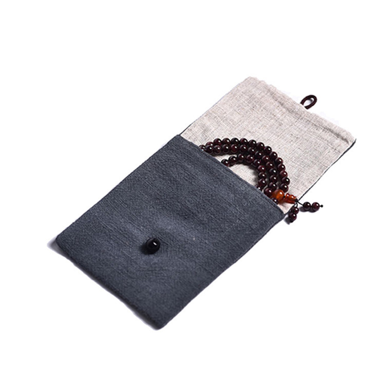 Envelope small linen gift jewelry pouch packing bead chain bag