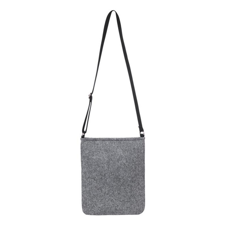 Wholesale custom man gray felt bag with shoulder